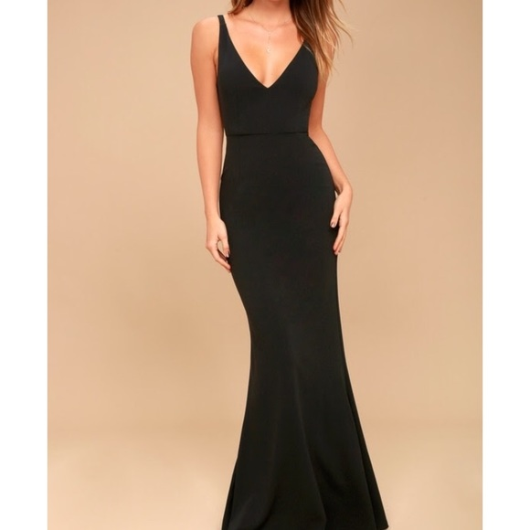 2d866b5f7185f Lulus Melora Black Maxi Dress! NWT! Sold out!